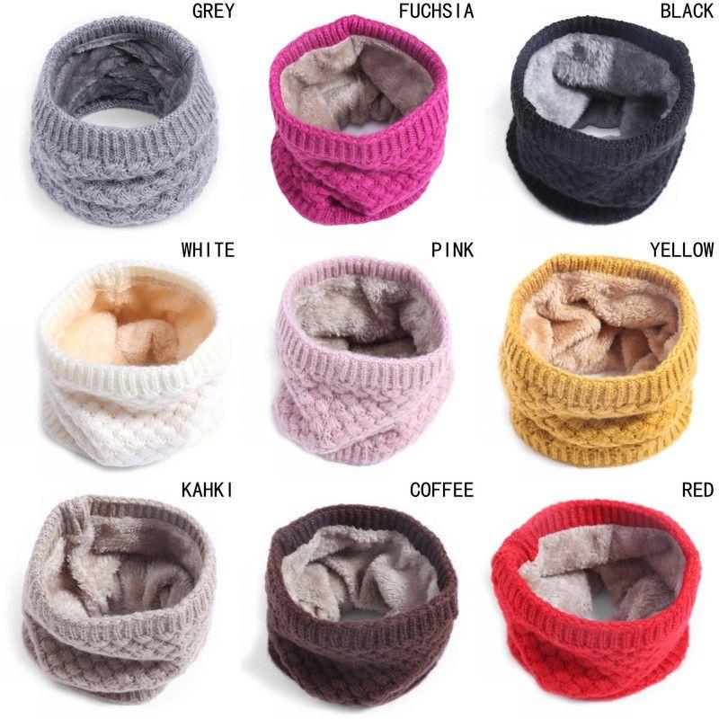 Sciarpa di inverno del bambino lavorato a maglia calda Sciarpa di bambini Sciarpe di fazzoletto lavorato a maglia adulto Sciarpe del collo del bambino delle ragazze del ragazzo