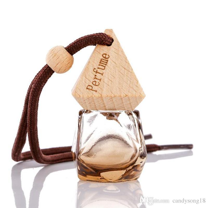 car Perfume Bottle 8ml glass Vials for Essential Oil Car Decoration Fragrance Bottle Charming Pendant Decoration F1524
