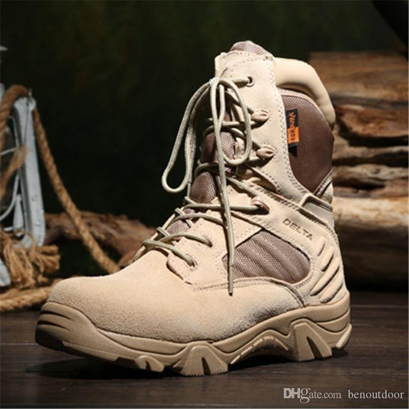 Army Boots Zipper Tactical Boots Delta Desert Combat Boats Outdoor Shoes Snow Boots Outdoor Trekking Hiking Shoes