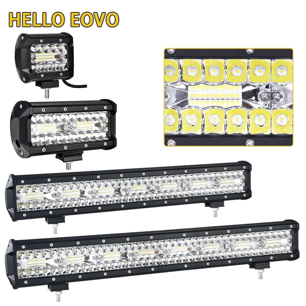 HELLO EOVO 4 7 20 23 zoll LED Bar LED Arbeitslicht Bar Indikatoren Offroad Boot Auto Traktor Lkw 4x4 SUV ATV 12 V 24 v