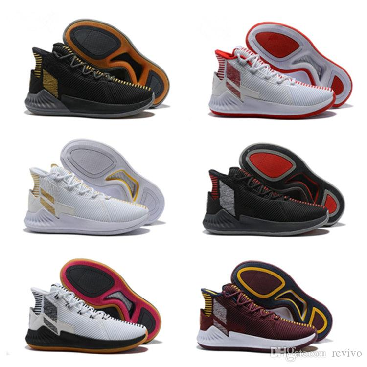 2018 new D rose 9 Basketball Shoes High Quality Rose 9 White Red Athletic shoes Athletic Outdoor free shipping