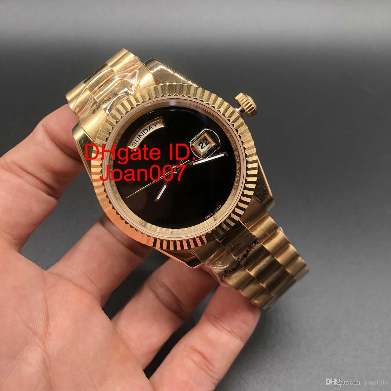 Montre pour homme Daydate Montre d'or montre de balayage automatique Mouvement mécanique Saphir Montres 41mm d'origine Fermoir