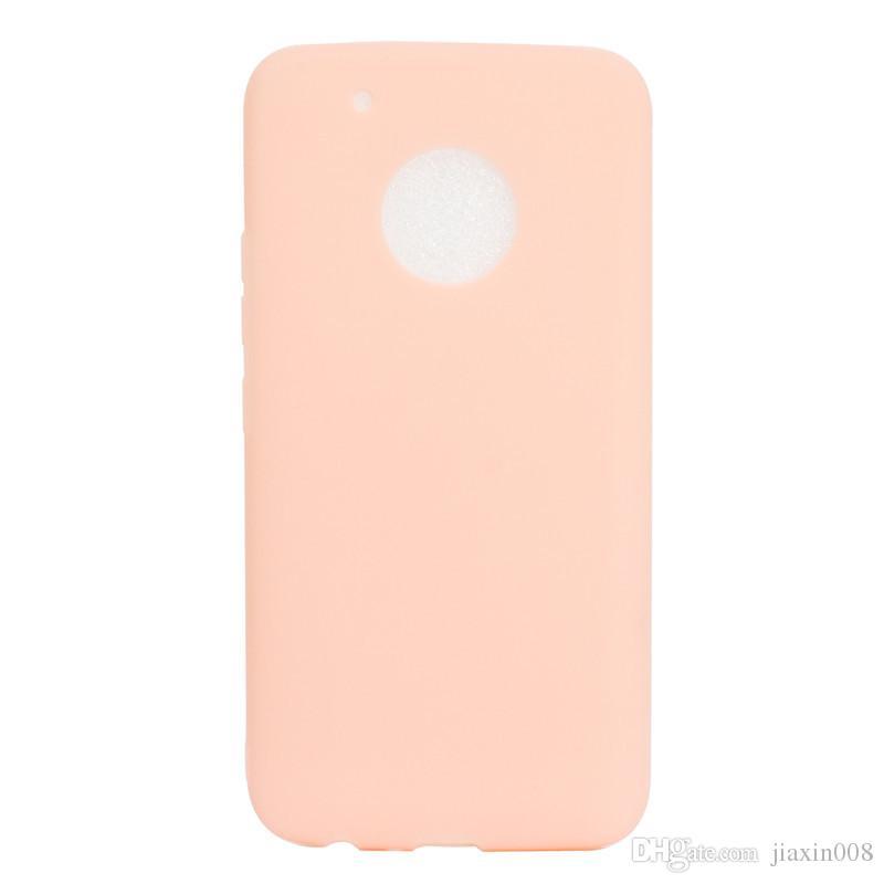 Şeker Renk Kılıf Motorola Moto G5 Artı Kapak Yumuşak TPU Ultrathin Mobie Moto G5 Artı Için Telefon Kılıfları Capinha