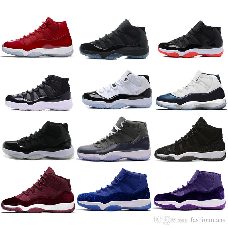 """2019 Number """"45"""" 11 Spaces Jams Basketball Shoes for Men Women Gym Red 11 Fashion Sport Sneakers Midnight Navy size US5.5-13"""