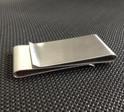 Stainless Steel Slim Double Sided Men Women Money Clip Wallet Metal Credit Card Money Holder Bill Steel Clip Clamp c794