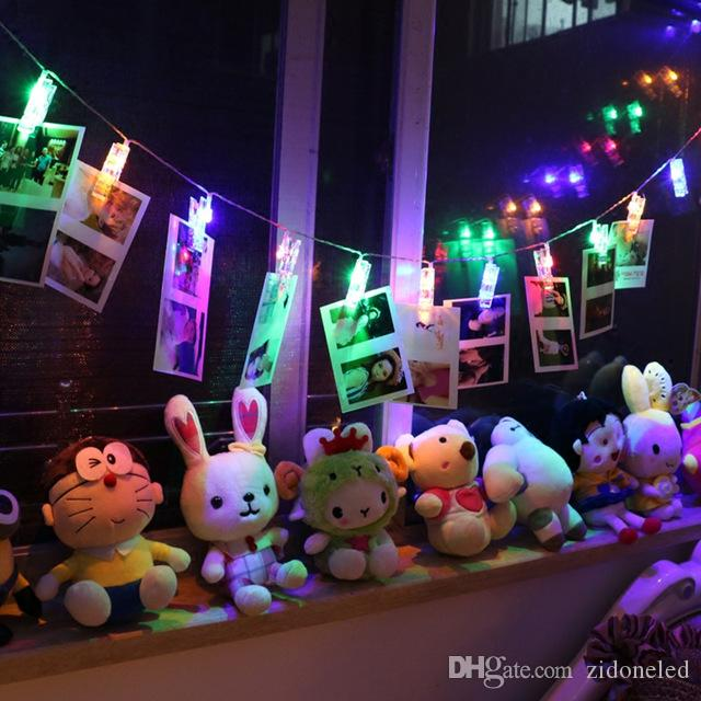 1M 1.5M 10 LED Photo Clips String Light 2xAA Battery Powered LED Clips Lights Christmas Light for Hanging Pictures Card Notes Artwork