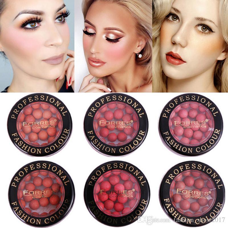 Farres Natural Blush Palette Hot Make-up Erröten Bronzer Langlebige Matte Face Blush Puder Cosmetic Ball Rouge