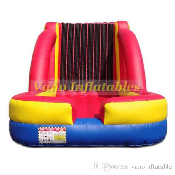 Hook and Loop Wall Bounce House Commercial PVC Human Sticky Walls for Sale Sticky Wall Inflatable Bouncer with Blower Free Shipping