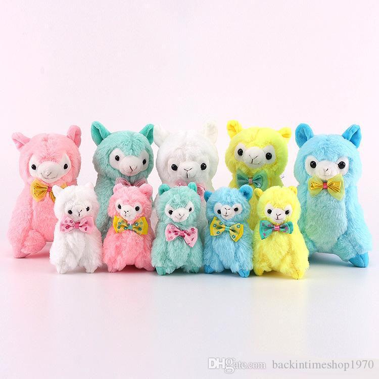 뜨거운 판매 10pcs / Lot 11CM / 18CM Alpaca 양 견면 벨벳 Stuffed 동물 Alpacos 인형 장난감 선물 용품