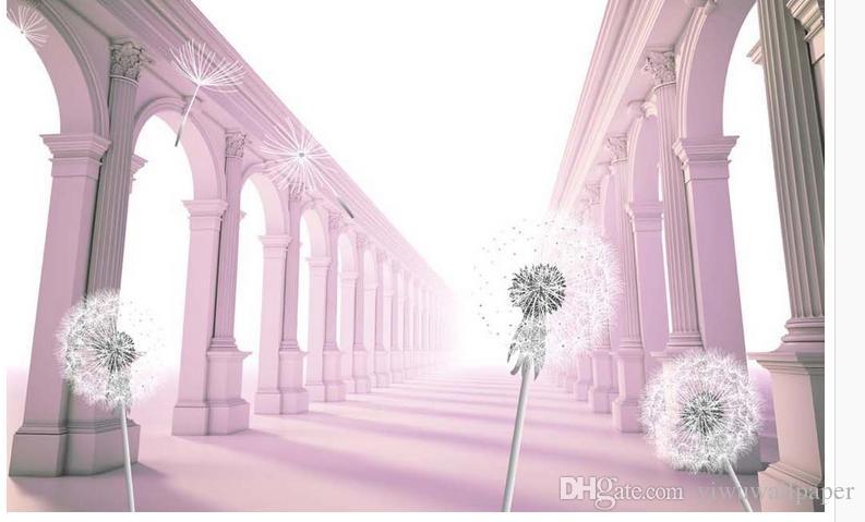 3D обои Home Decor гостиная стены покрытие 3d пространство европейский римская колонка фон пользовательские фото обои 3D стерео фреска