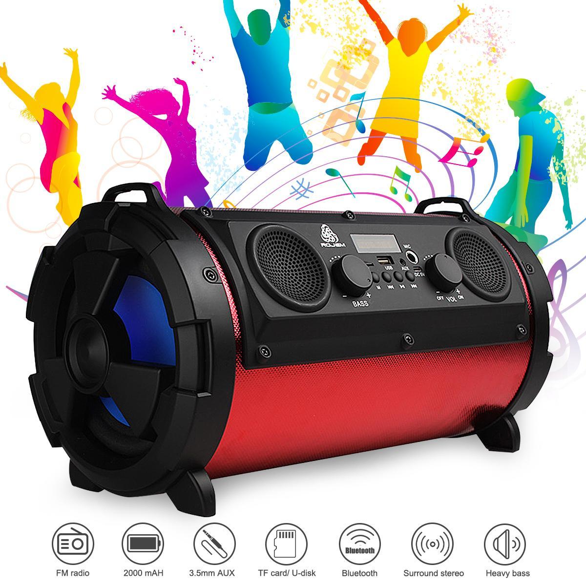 Beweglicher drahtloser Bluetooth Lautsprecher Subwoofer mit Musikschwerbass-Lautsprecher HIFI Stereo-TF Karte im FreienLoundspeaker