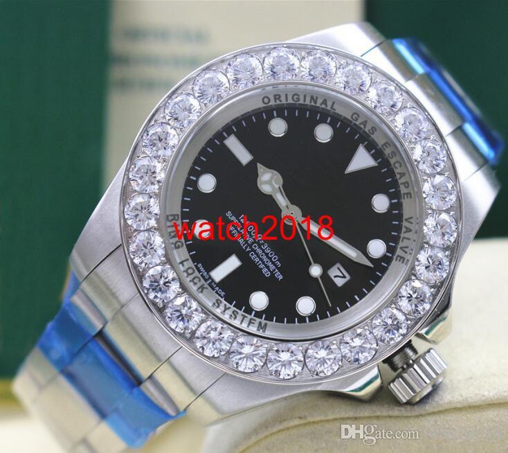 Luksusowy Zegarek Ze Stali Nierdzewnej 44mm 116660 Round Gwarancja Minty Większy Diamentowy Ceramiczny Bezel Automatyczne Mechaniczne Mężczyźni Zegarki Najwyższej Jakości