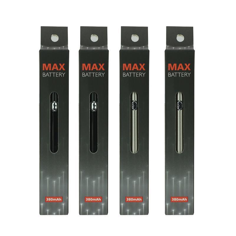 Hohe Qualität Vorwärmen Max Batterie 380 mAh Einstellbare Spannung Dick Öl Verdampfer Faden 510 Batterie Kostenloser Versand