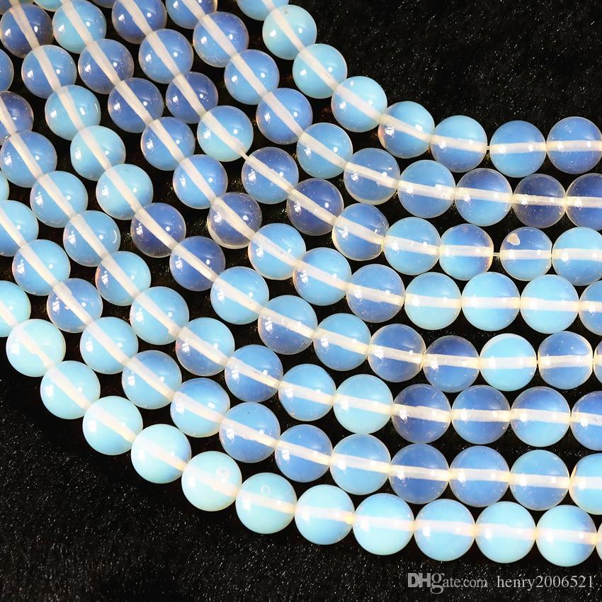 Prodotti semilavorati fai da te nave libera 8MM branelli allentati Moonstone asiatici 15 pollici