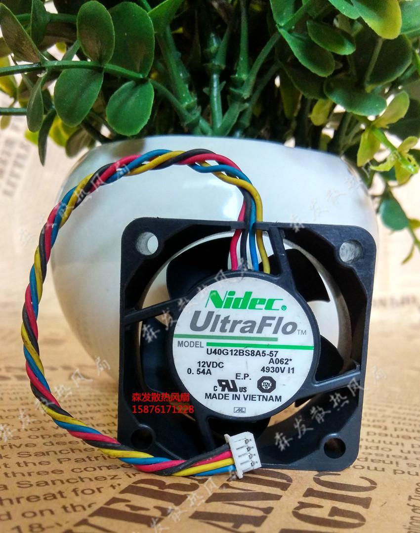 Original NIDEC 4020 4CM U40G12BS8A5-57 DC 12V 0,54A intelligente Thermostate 4-Draht-Kühler Kühler Lüfter
