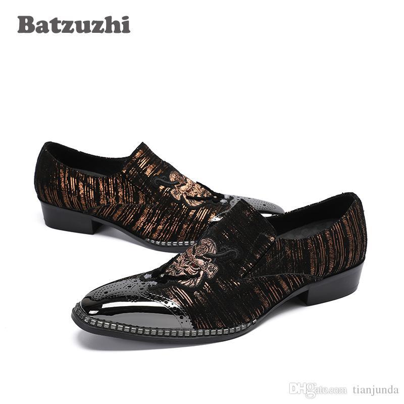 Tipo italiano scarpe da uomo di lusso scarpe taglia 8-46 scarpe a punta in vera pelle uomo affari e un partito calzature fatte a mano sapato masculino3