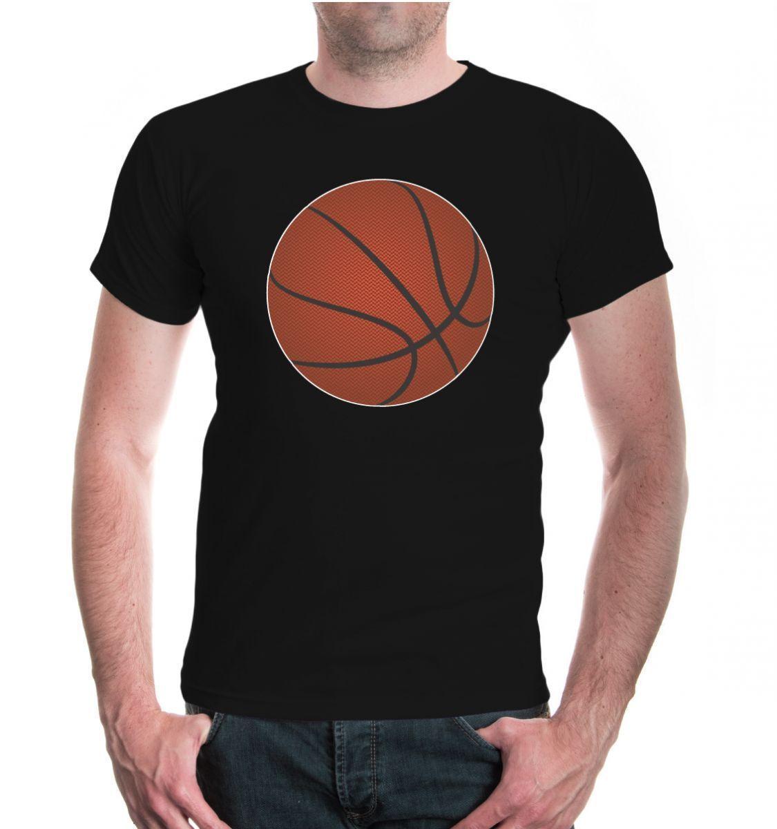 Herren Unisex Kurzarm Tişört Basketbol Topu V2 Fanshirt Ballsport Motiv