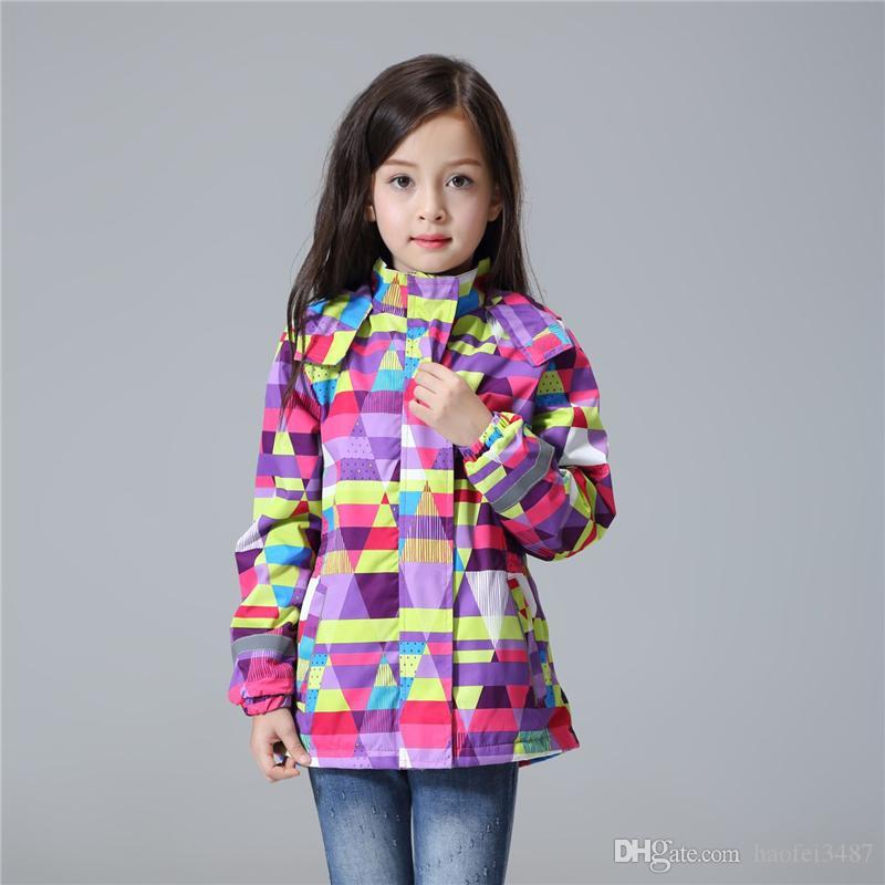 دافئ للماء windproof ومعطف الطفل بنات الطفل جاكيتات الصوف القطبية الأطفال ملابس خارجية ل3-12T الشتاء الخريف ملابس الاطفال