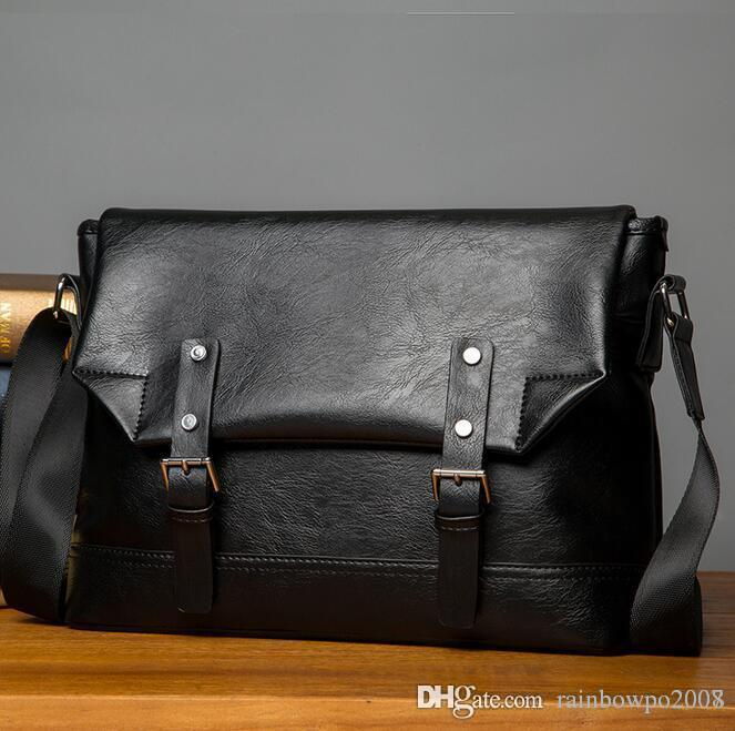 factory sales bag retro clamshell bangalor mens casual men leather shoulder bag man single shoulder bag business envelope