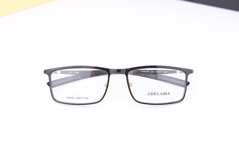 2017 marcos de anteojos de fibra de carbono YP6005 hombres y mujeres marco de gafas ópticas pueden ser gafas de miopía con caja original