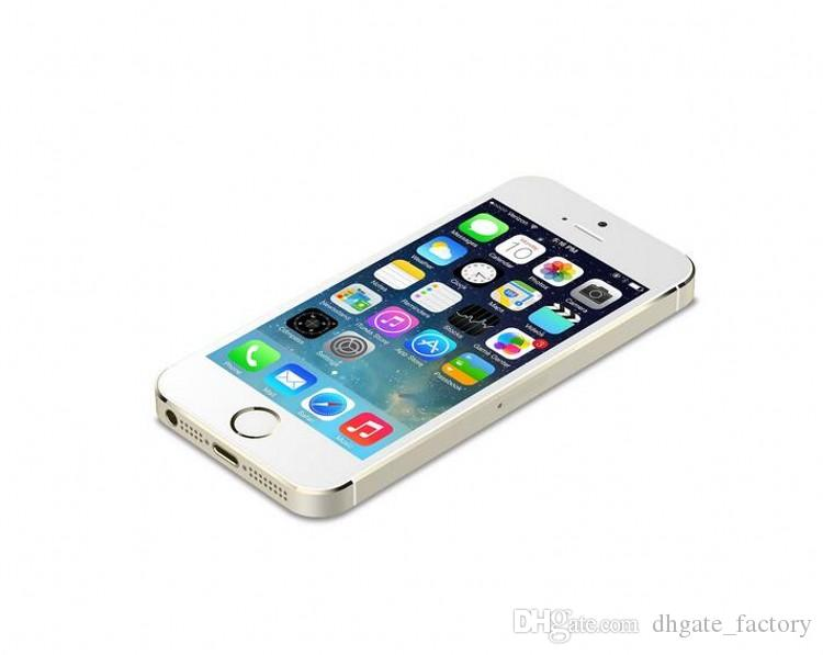 """Refurbished Unlocked Apple iPhone 5S WITHOUT fingerprint iOS A7 4.0"""" 8MP IPS HD GPS 16GB 32GB 64GB ROM dual core Phones"""