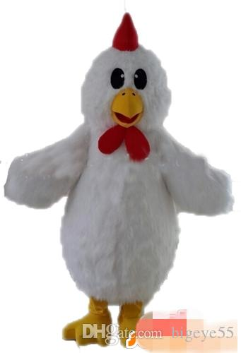 Costume de mascote de frango branco personalizado frete grátis