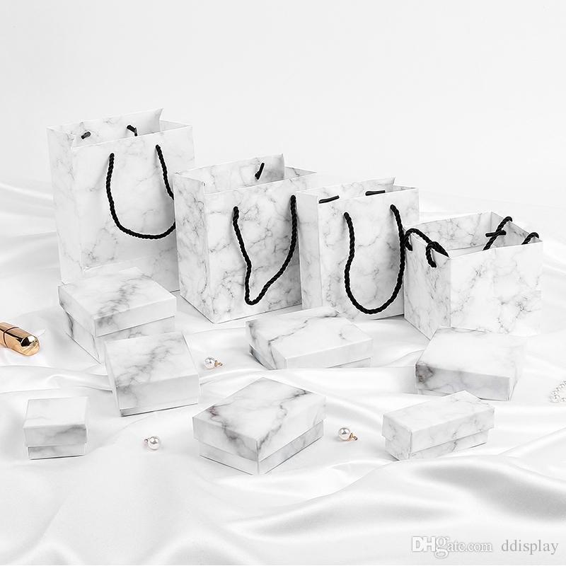 [DDisplay] Ins Stil Mermer Mücevher Kutusu, Trend Yüzük Hediye Durumda, Kolye için özel Mücevher kutusu, Festivali Kolye Mermer Ekran