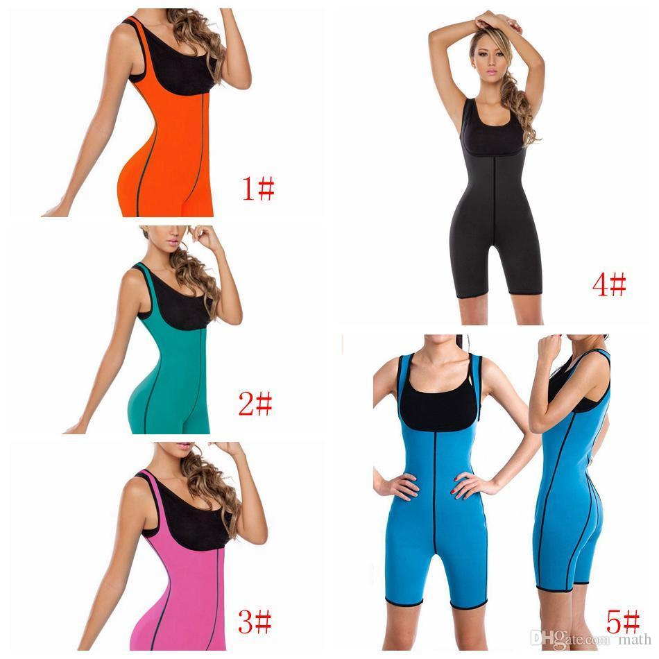Full Body Fat Burn Tummy Slim Shaper Bodysuit Firm Control Sauna Suit Sportwear