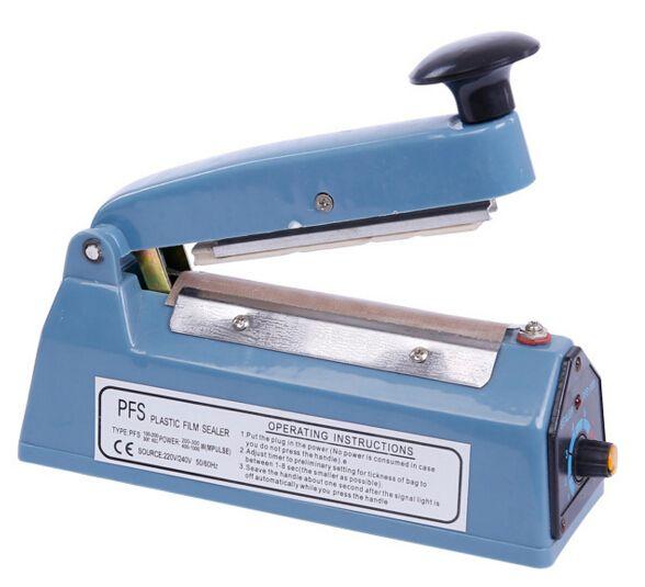 Agrafe de sac de scellant de sac de nourriture mini FS100 220V scellant la machine emballeur de film électrique pour le ménage