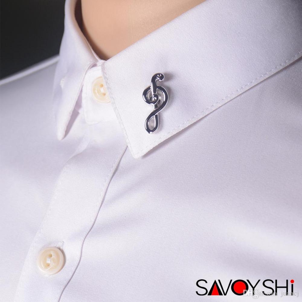 SAVOYSHI Fashion Music Note Design Men Lapel Pin Brooches Pins Fine Gift for Men Brooches Collar Party Engagement Gift Jewelry