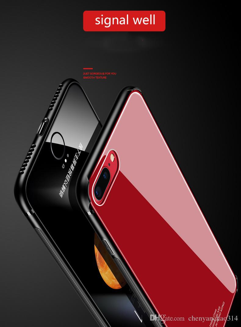 Tempered Glass Case for iPhone X Case Luxury Hybrid Back Cover Shockproof Sleeve Hard for iPhone 6 6s 7 8 8 Plus Phone Cover