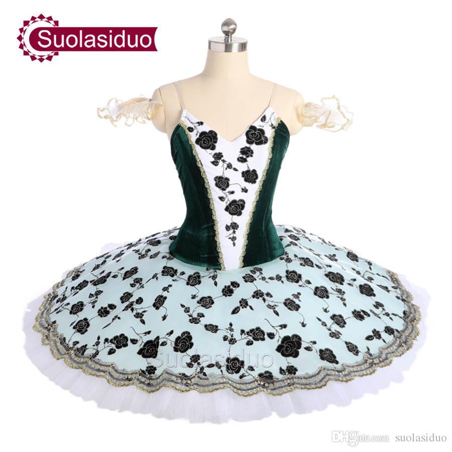 Dorosły Ciemnozielony Balet Tutu The Nutcracker Perfromance Stage Nosić Kobiety Zielony Balet Dance Konkurencji Kostiumy Dziewczyny Suknie Baletowe