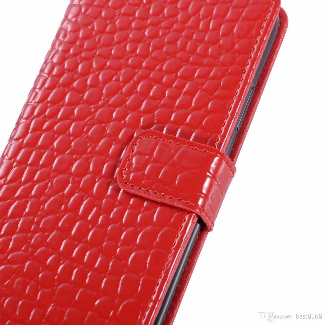Crocodile PU Leather Wallet Case For Iphone XS MAX XR X 8 7 6 6S Plus Holder Card Slot Cash Coro Snake Frame Photo Card Flip Cover Pouch