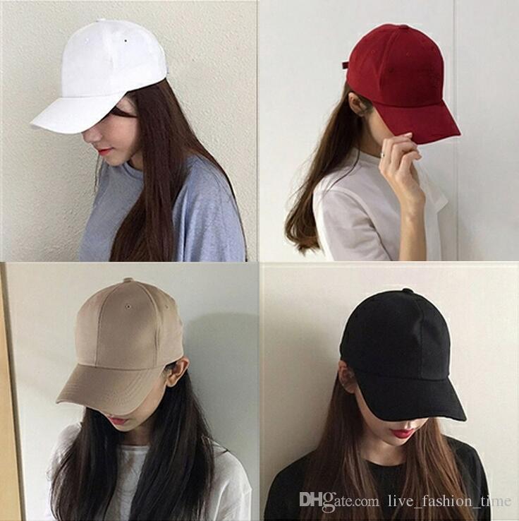 2018 Men Cotton Cap Baseball Cap Hat Adjustable Polo Style Visor Hats Extension