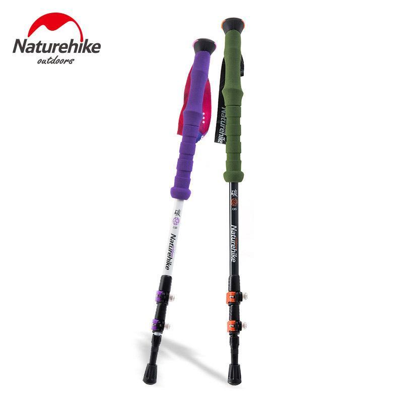 NUOVO bastone da passeggio in canna da passeggio in fibra di carbonio Naturehike Alpenstock per regolazione ultra-leggera 1 pezzo 3 sezione 2 colori