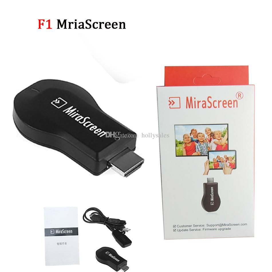 F1 F1-MX mirascreen bluetooth senza fili visualizzazione di wifi TV dongle ricevitore 1080P DLNA airplay facile saring HD TV stick android per HDTV