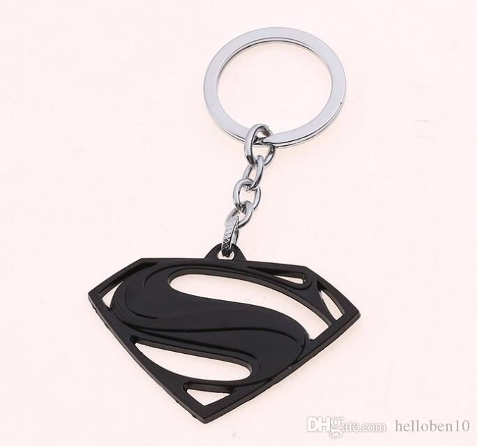 Mix 4 colour The Avengers Superman Keychain Superhero S Logo Key Chain High Quality Keyring for Women Men Fans Jewelry Free Shipping