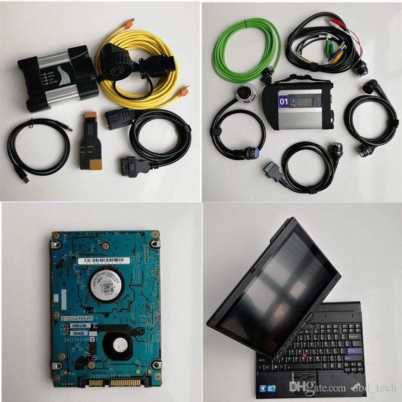 Automobile strumento di diagnosi X201t I7 4G / 8G + 1TB soft-ware per BMW ICOM prossima + MB stella C4 di deviazione standard di connessione C4 compatto 5 per Bne-z camion