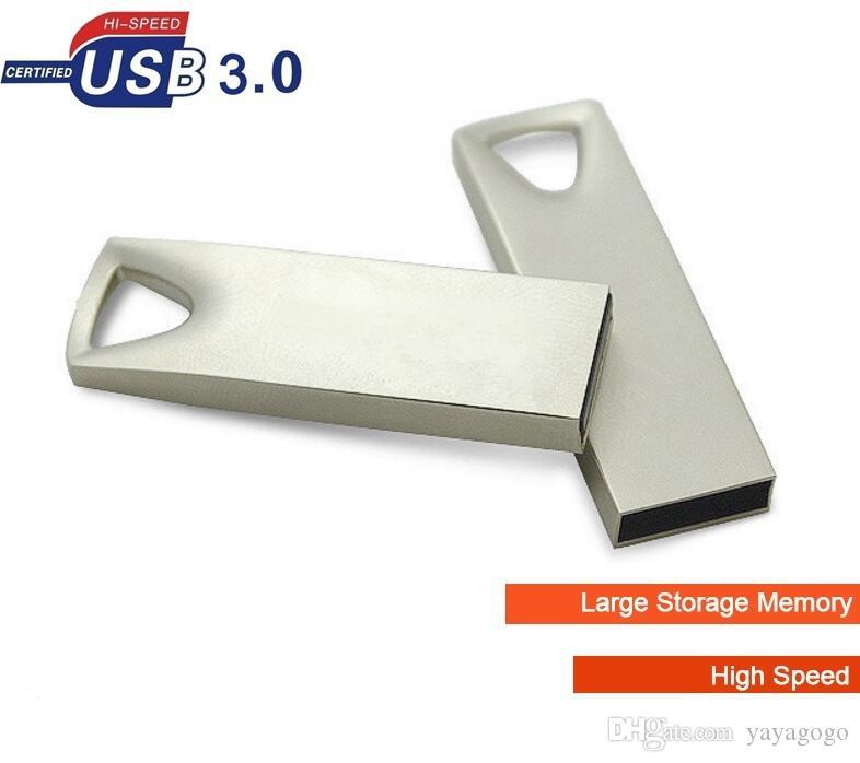 USB de alta velocidad 3.0 Flash Pen rápida Fecha de Transferencia Memory Stick Key Drive U disco (Color: oro de plata Tamaño: 16GB 32gb 8g libre de la insignia sobre 20pcs