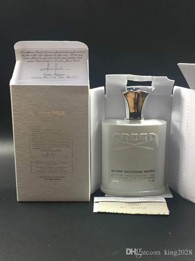 2018 عطور العطور الشهيرة aventus creed / GREEN IRISH TWEED / Creed sliver colognes perfumes for men