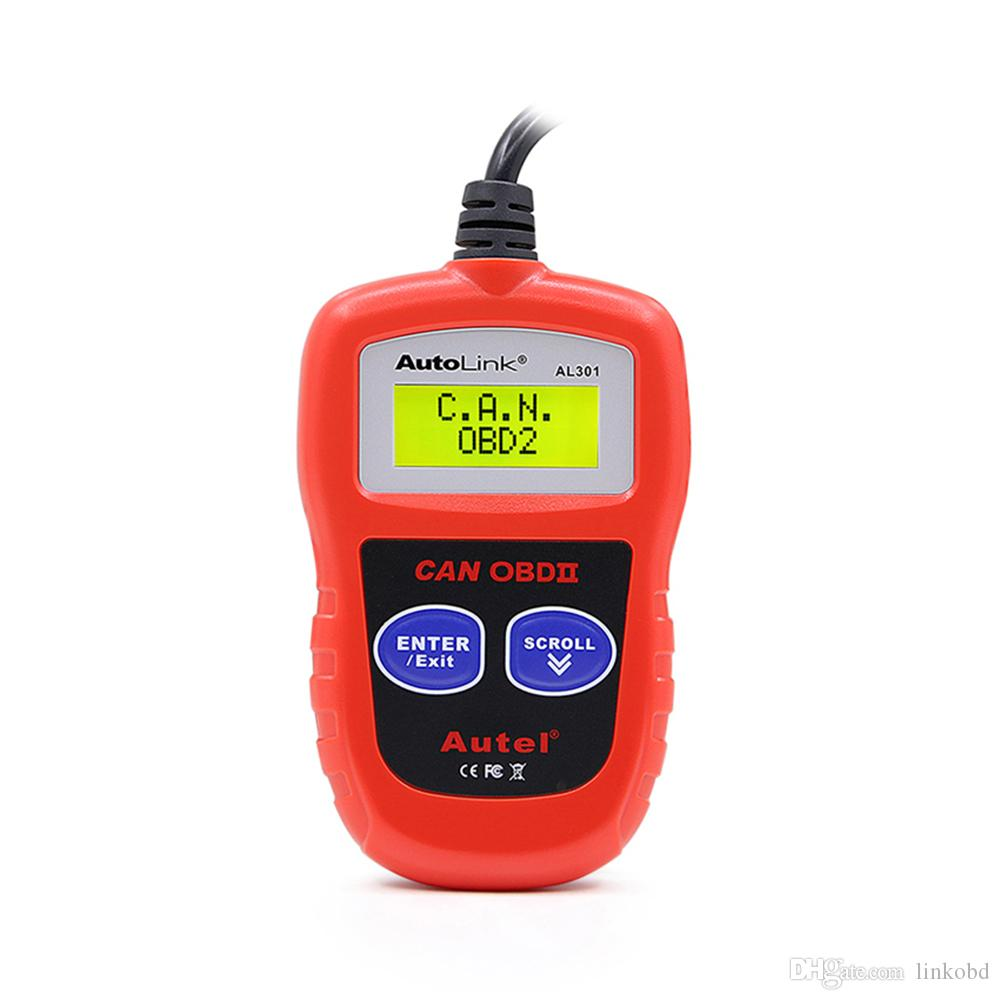 AUTEL AutoLink AL301 OBDII CAN DIY LCD Code Reader Scanner Trouble Diagnostic Tool Read and Clear Trouble Codes