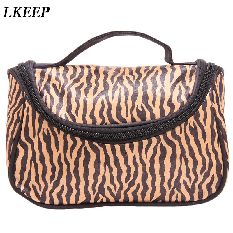 315ad071a4b8 Professional Cosmetic Case Bag Large Capacity Portable Women Makeup  Cosmetic Bags Fashion Leopard Print Storage Travel Bags