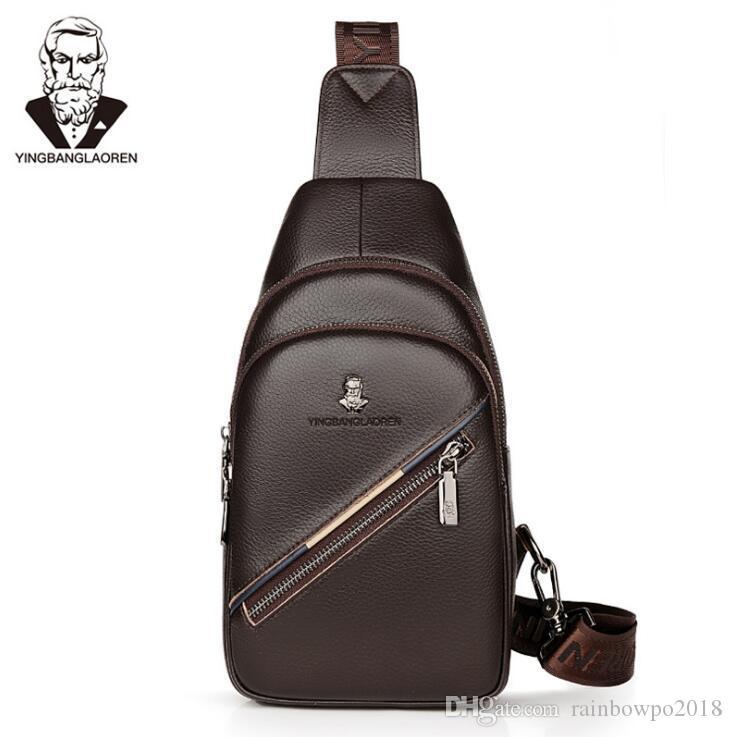 Direct Brand Men Bags Simple Head Layer Cowskin Men Skew Shoulder Bags British Leather Business Shoulder Bag Outdoor Leather Leisure Riding