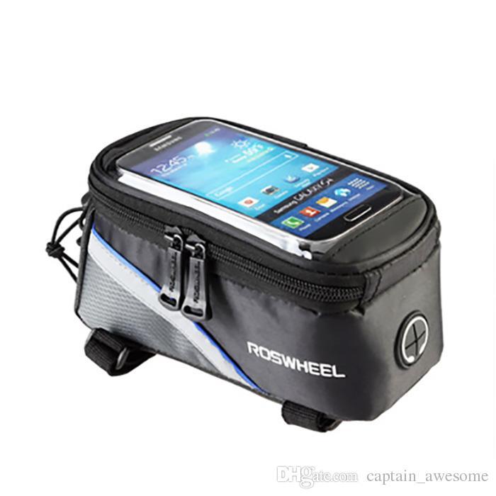 자전거 자전거 프론트 튜브 Trame 가방에 대한 아이폰 HTC 사이클링 레드 블루 색상을 선택하십시오 무료 배송