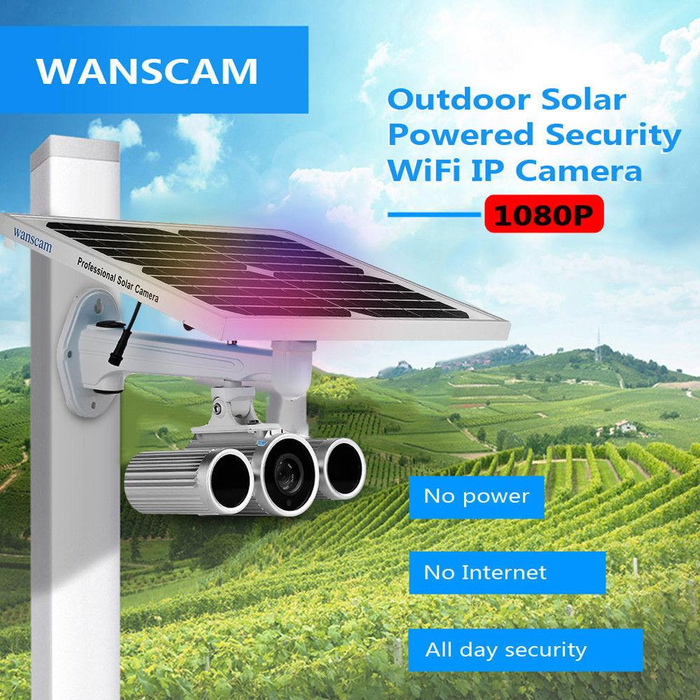 WANSCAM HD 1080P 2.0MP 야외 태양 광 보안 IP 카메라 IP66 방수 지원 IR 나이트 비전 모션 감지 구동