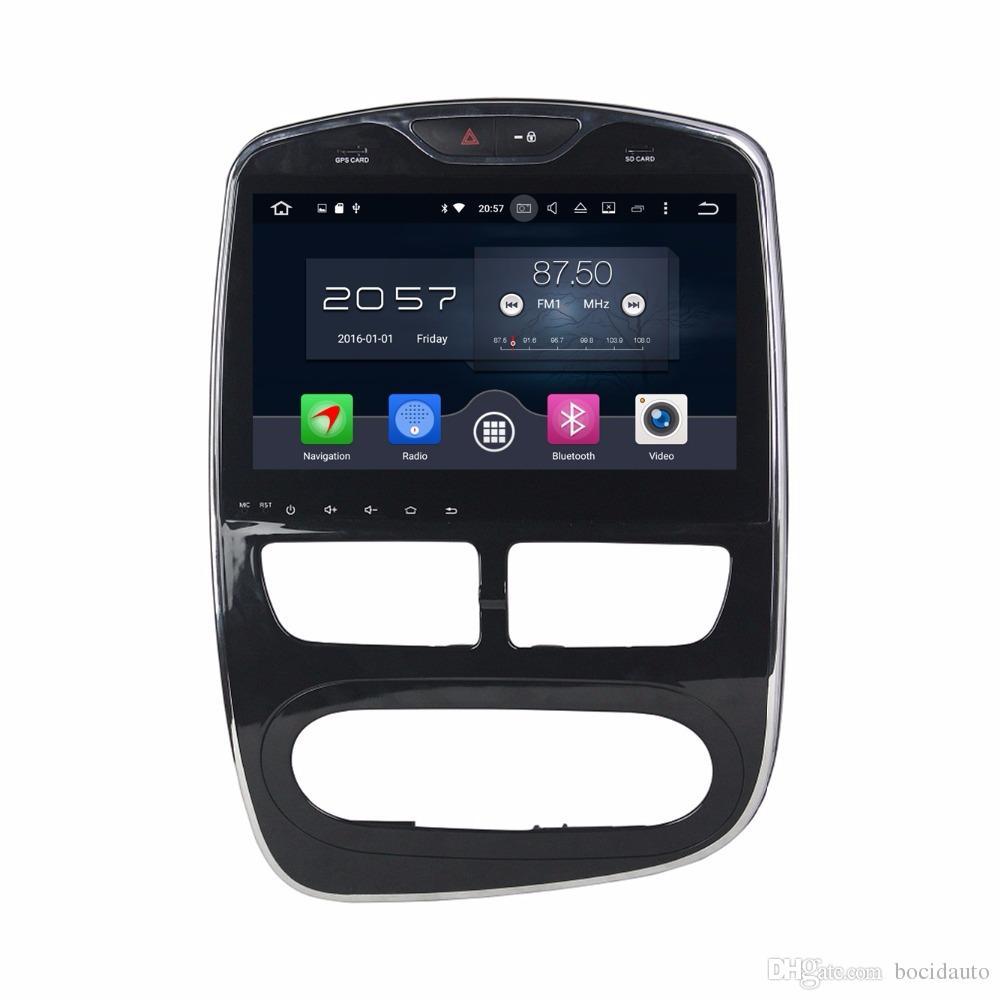 """1024 * 600 Dört Çekirdekli 10.1 """"Android 7.1 Araba DVD Araba Radyo GPS Multimedya Kafa Ünitesi Renault Clio için 2 GB RAM Bluetooth WIFI USB DVR"""