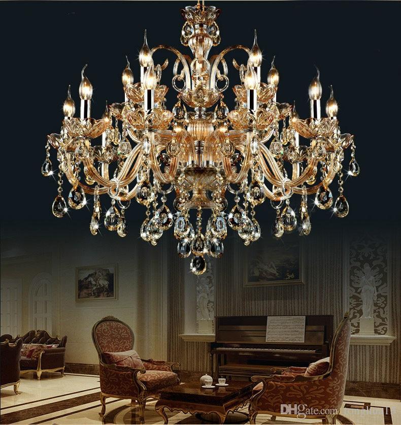 Champage de lampe à cristal moderne de luxe Top K9 lustre Light