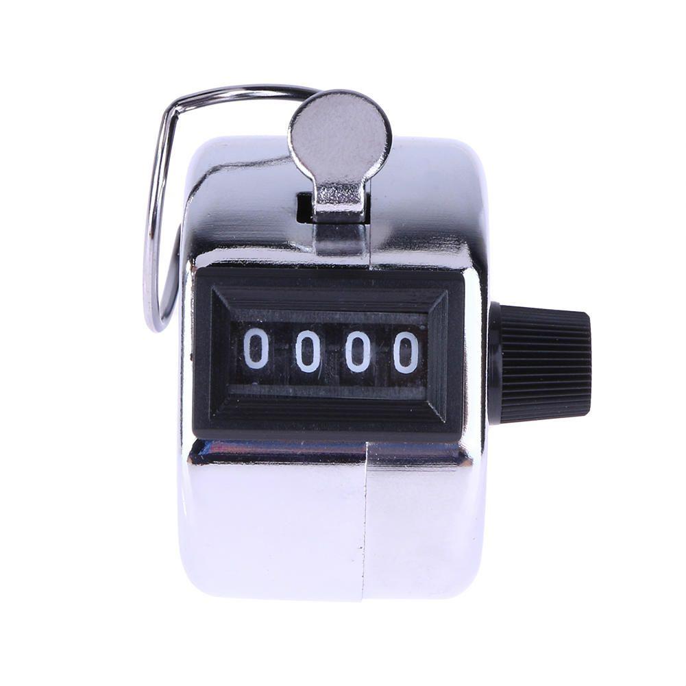 Range Wholesale Pack de 4 de 4 d/ígitos de mano Manual de Clicker mec/ánico w Anillo//Dedo contador de la cuenta