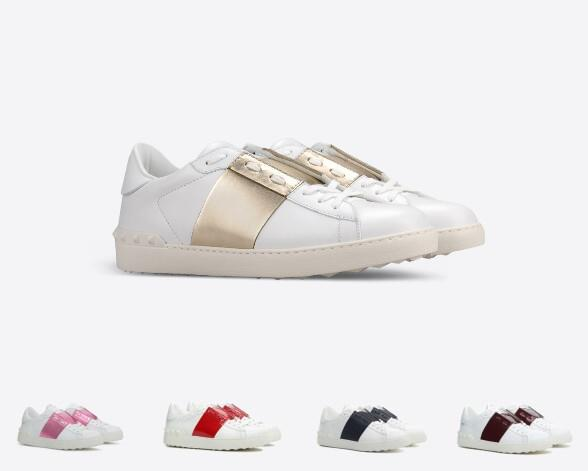 Comfort Casual Shoes Women Men Rivets Flats Shoes Weaving Leather Patchwork Trendy Casual Shoes Studded Sports Skateboarding Tennis