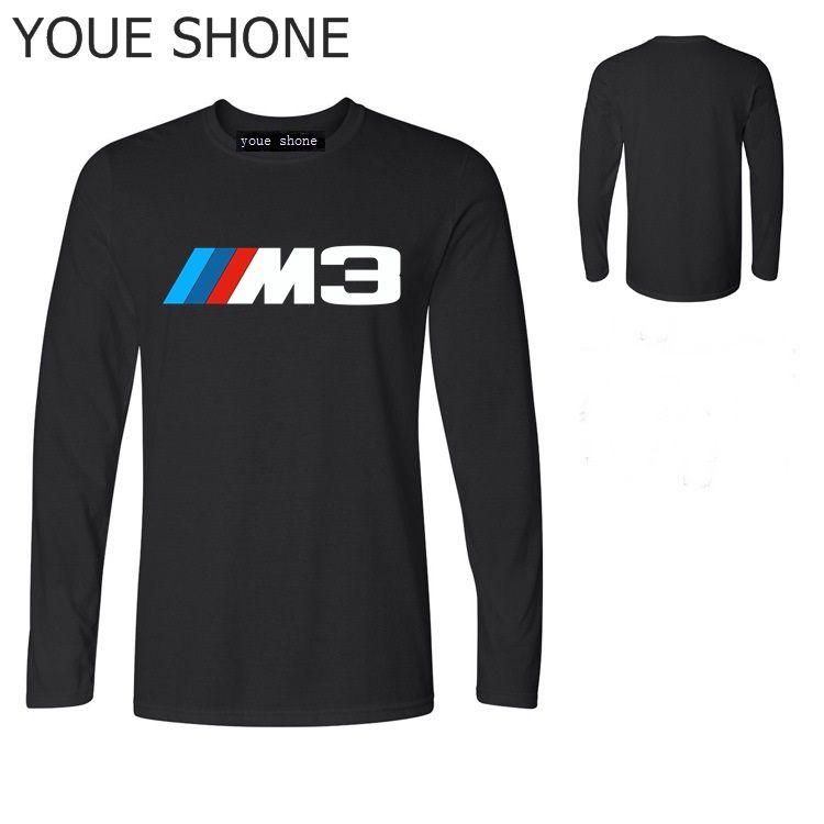 E36 M3 fãs supercar camisa dos homens básicos t vintage à moda homens camiseta Pure casuais algodão manga comprida camiseta T Top Impresso